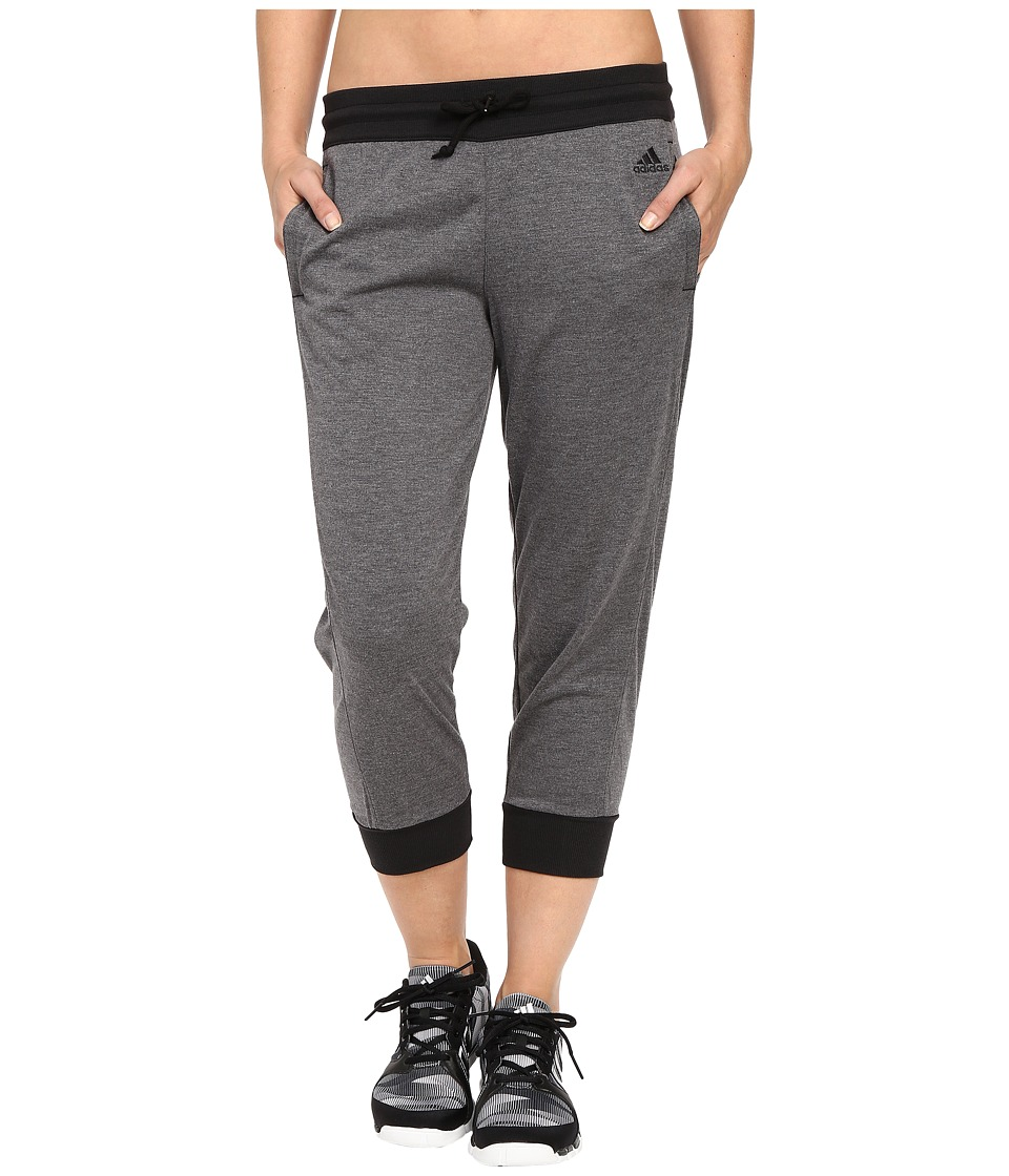 adidas 2Love Cuffed Capris (Dark Grey Heather/Black) Women
