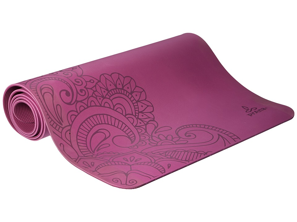 Prana - Henna E.C.O. Yoga Mat (True Orchid) Athletic Sports Equipment