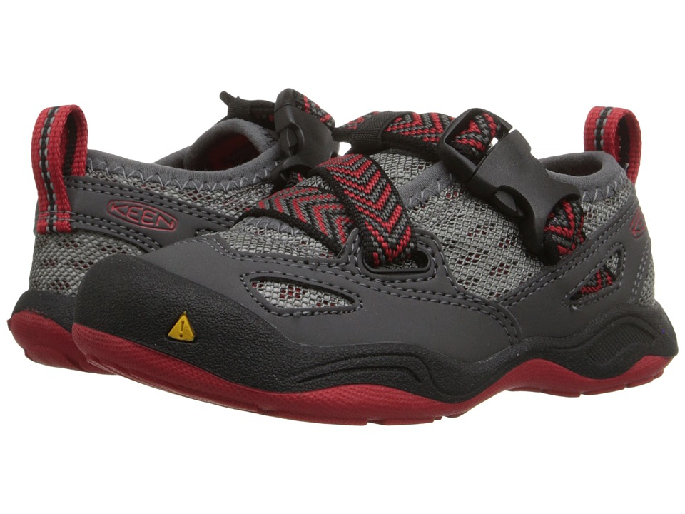 Keen Kids - Komodo Dragon (Toddler/Little Kid) (Magnet/Racing Red) Boy's Shoes