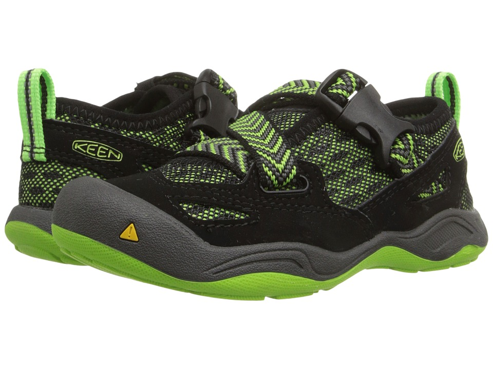 Keen Kids - Komodo Dragon (Toddler/Little Kid) (Black/Jasmine Green) Boy's Shoes