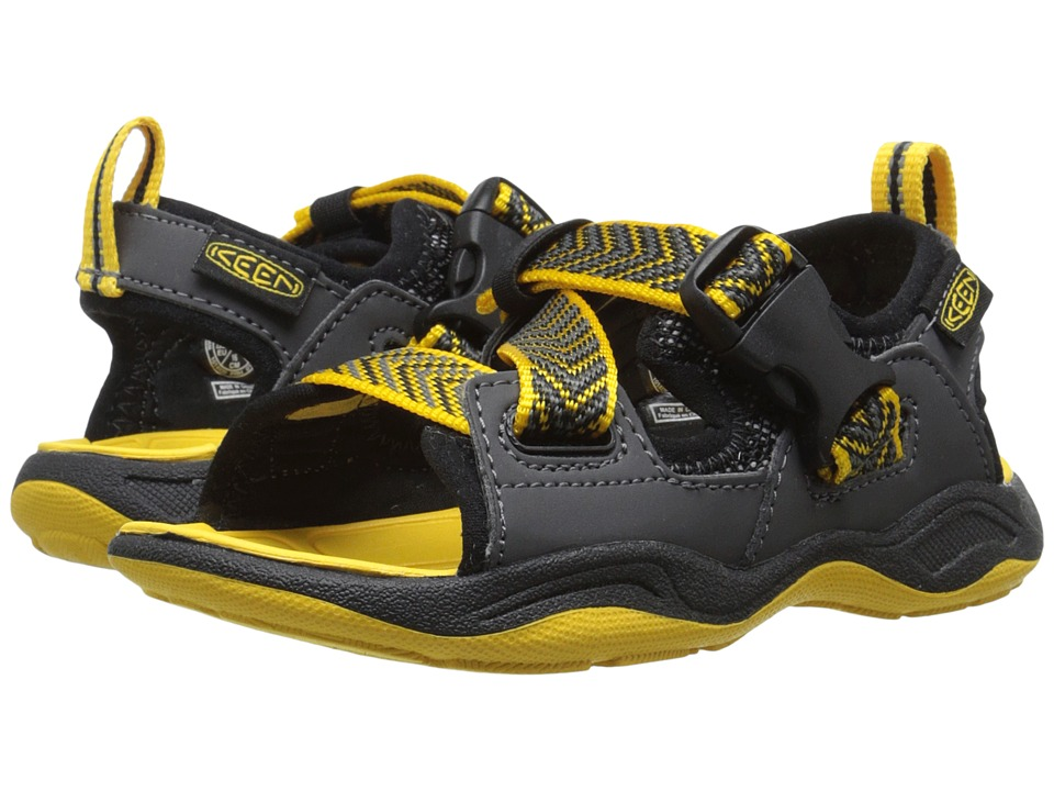 Keen Kids - Rock Iguana (Toddler/Little Kid) (Black/Yellow) Boy's Shoes