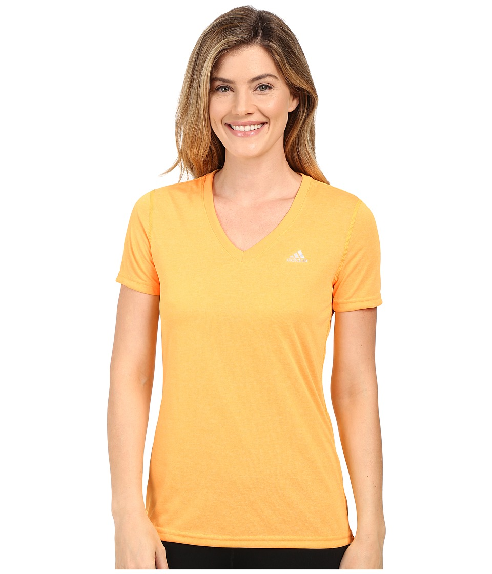 adidas - Ultimate S/S V-Neck Tee (Solar Gold/Matte Silver) Women's T Shirt