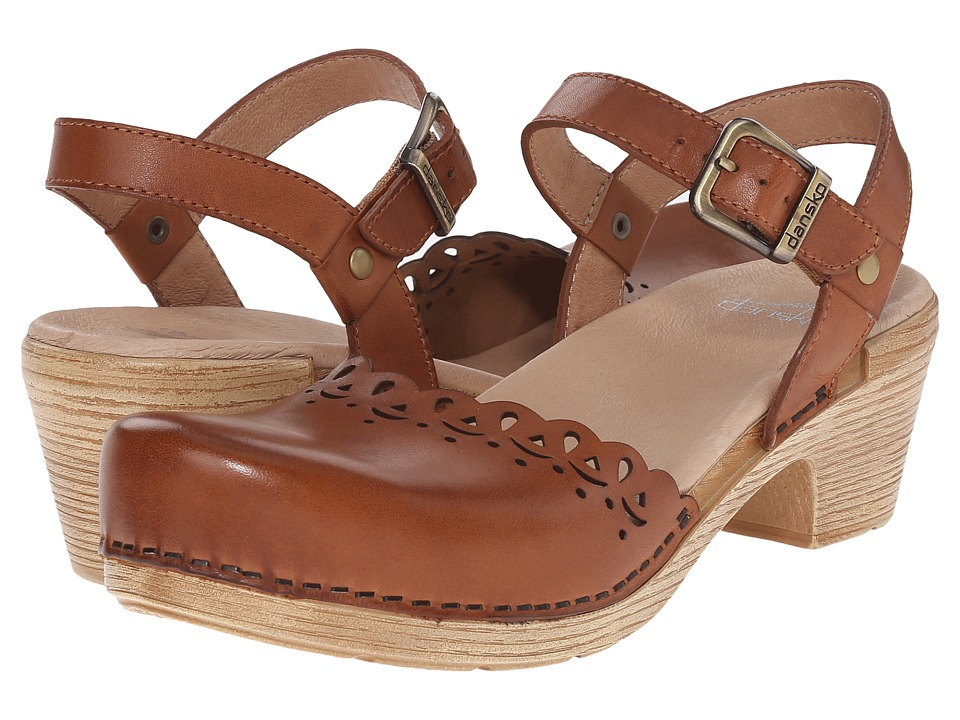 Dansko Marta (Camel Full Grain) High Heels