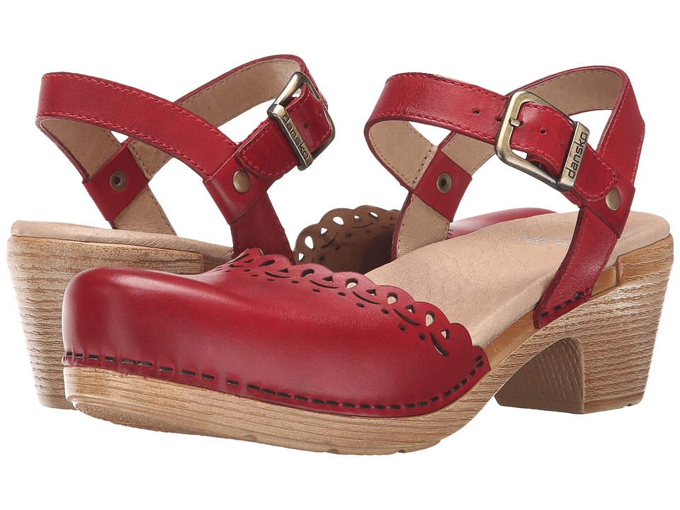 Dansko - Marta (Red Full Grain) High Heels