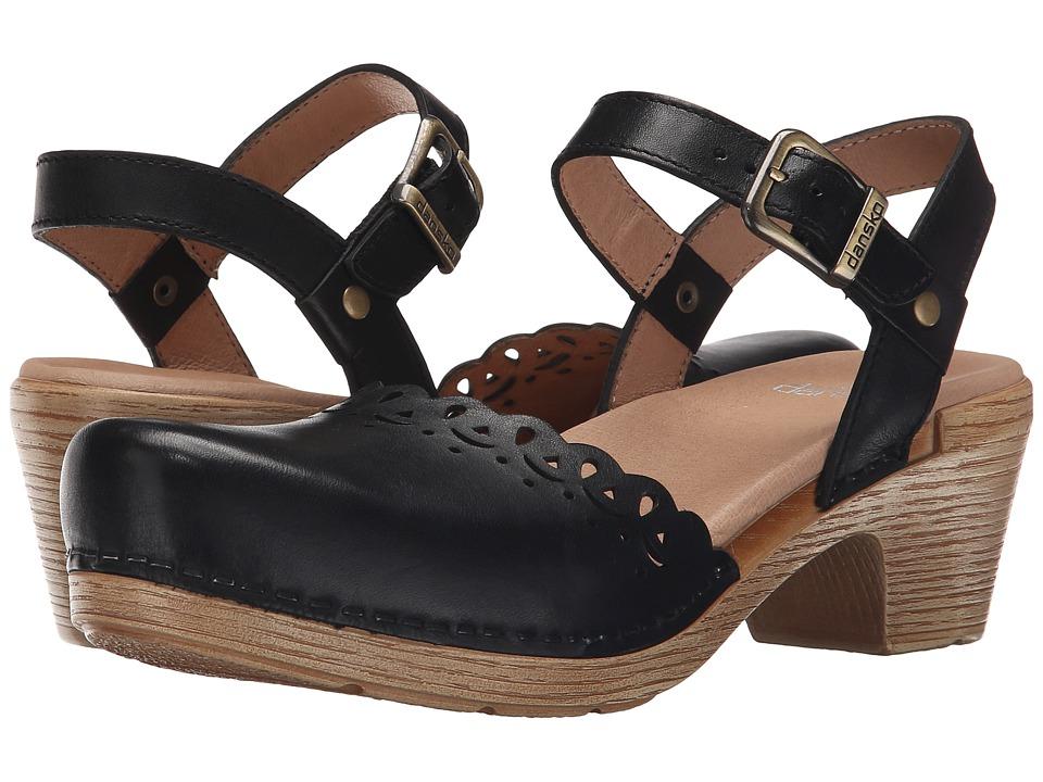 Dansko Marta (Black Full Grain) High Heels