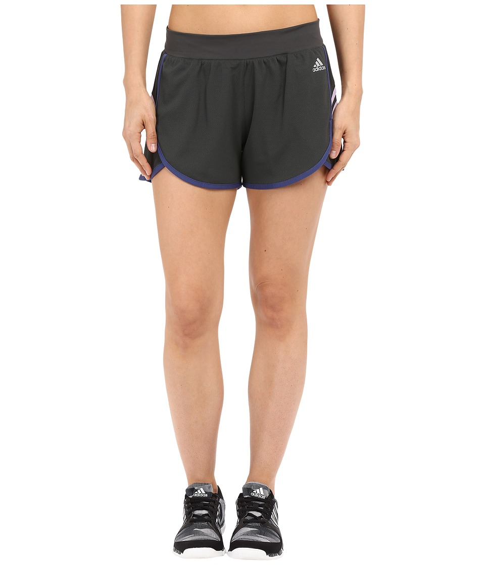 adidas - Ultimate Knit Shorts (DGH Solid Grey/Raw Purple/Purple Glow/Matte Silver) Women's Shorts