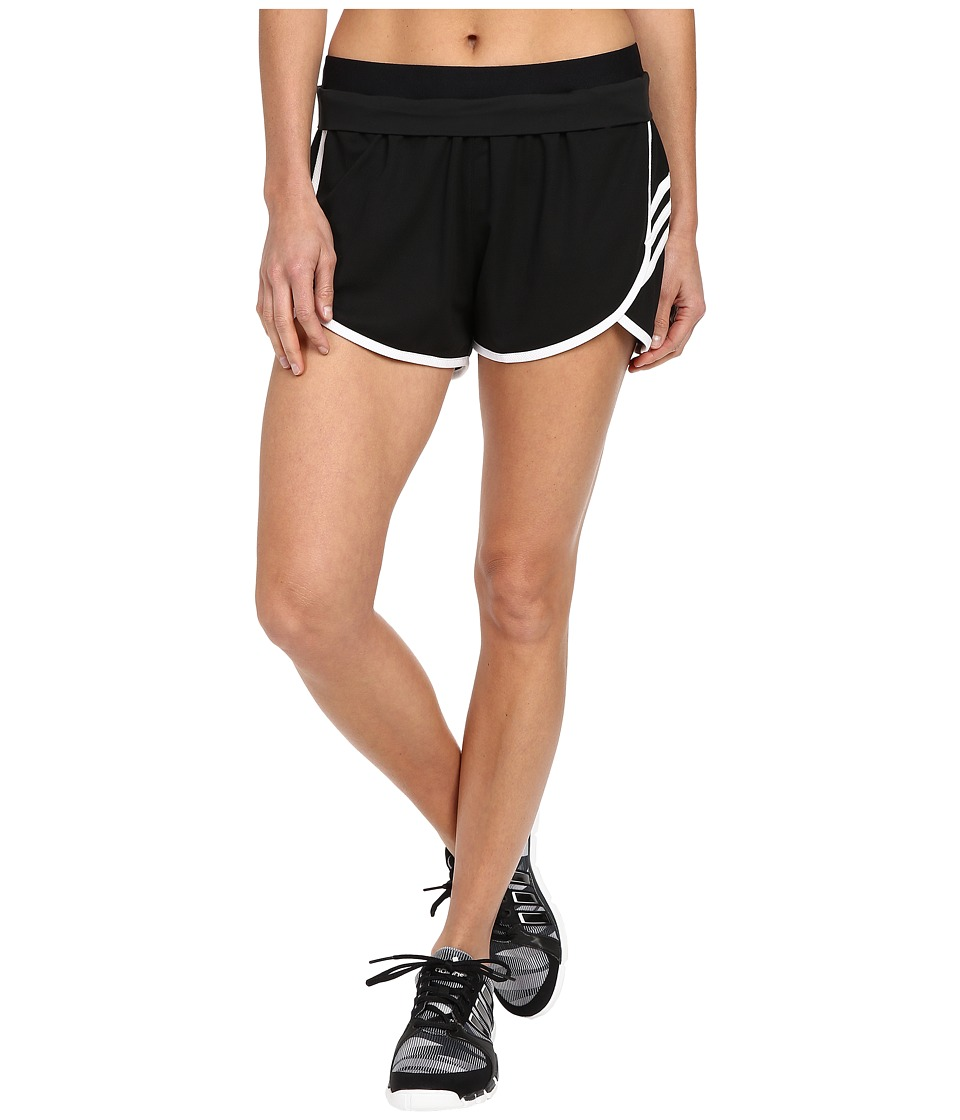 adidas - Ultimate Knit Shorts (Black/White/White/Matte Silver) Women's Shorts