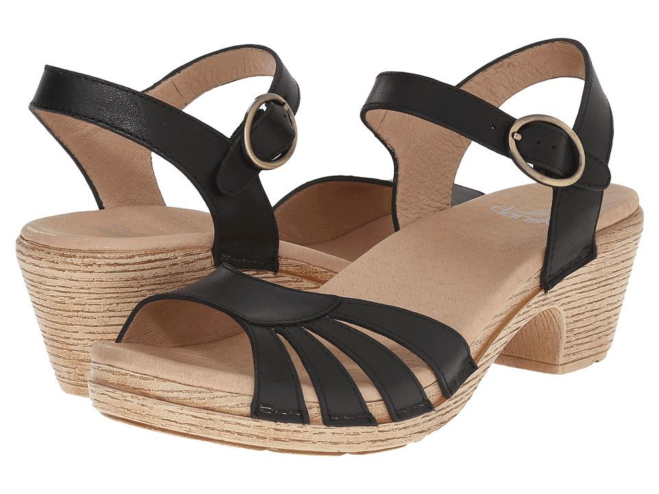 Dansko - Marlow (Black Full Grain) Women's Sandals