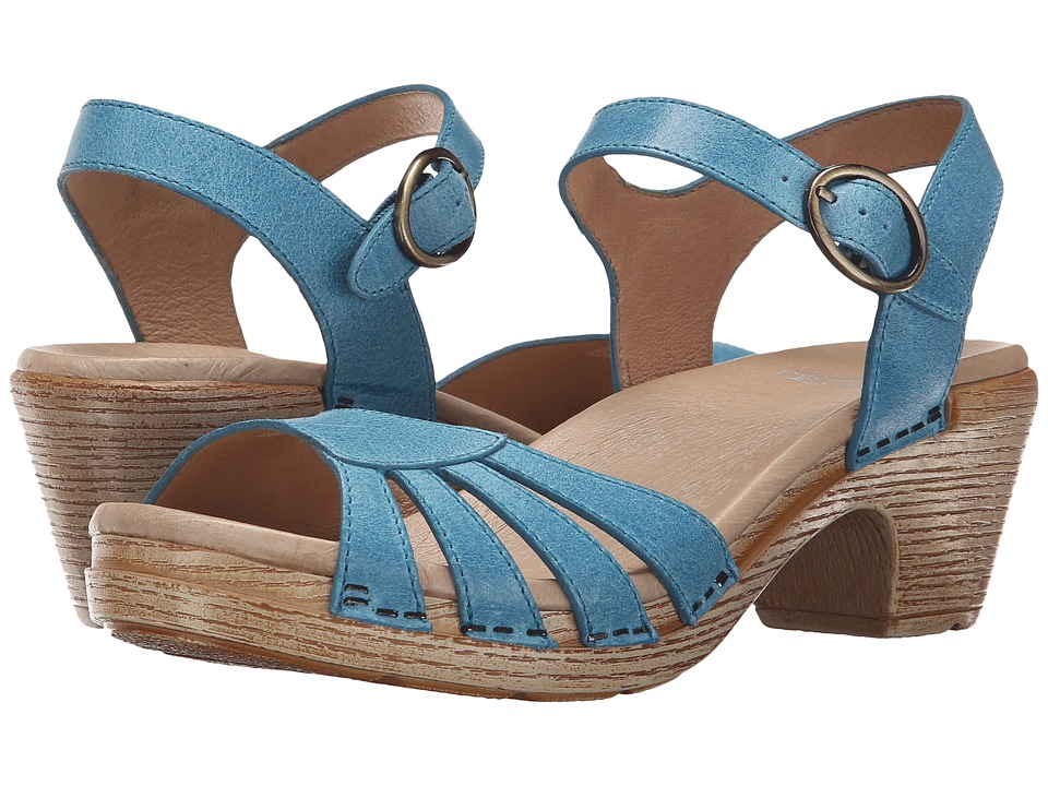 Dansko - Marlow (Blue Washed Leather) Women's Sandals