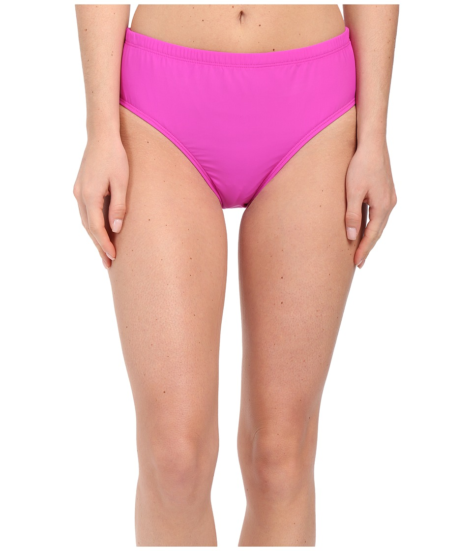 Athena - Cabana Solids Mid Waist Pant (Raspberry) Women's Swimwear