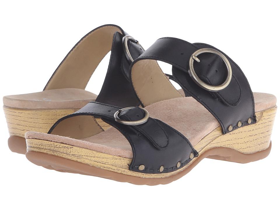 Dansko - Manda (Black Full Grain) Women's Sandals