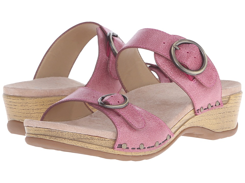 Dansko - Manda (Berry Washed Leather) Women's Sandals