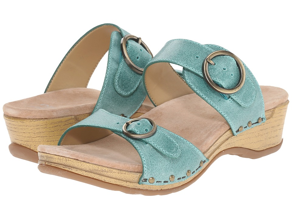 Dansko - Manda (Mint Washed Leather) Women's Sandals