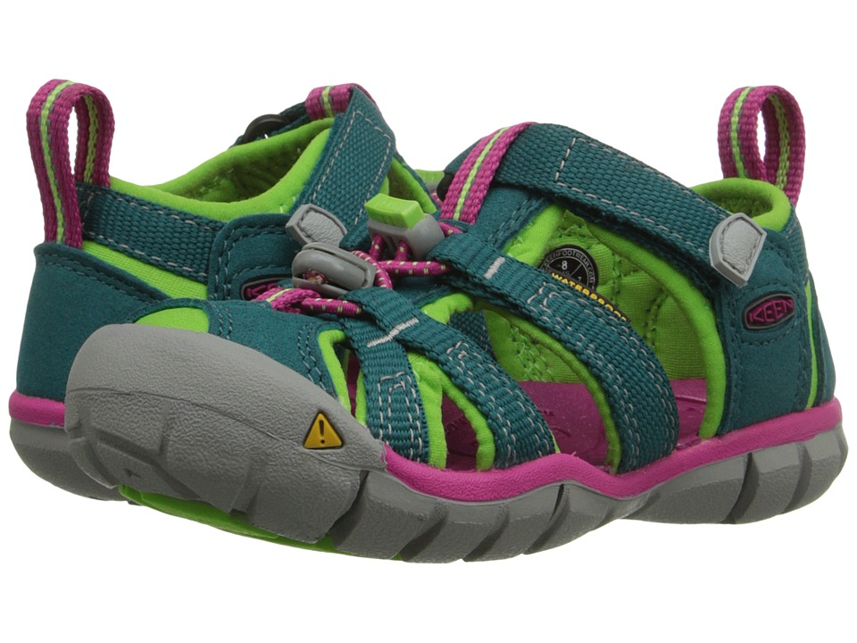Keen Kids - Seacamp II CNX (Toddler/Little Kid) (Everglade/Jasmine Green) Girls Shoes