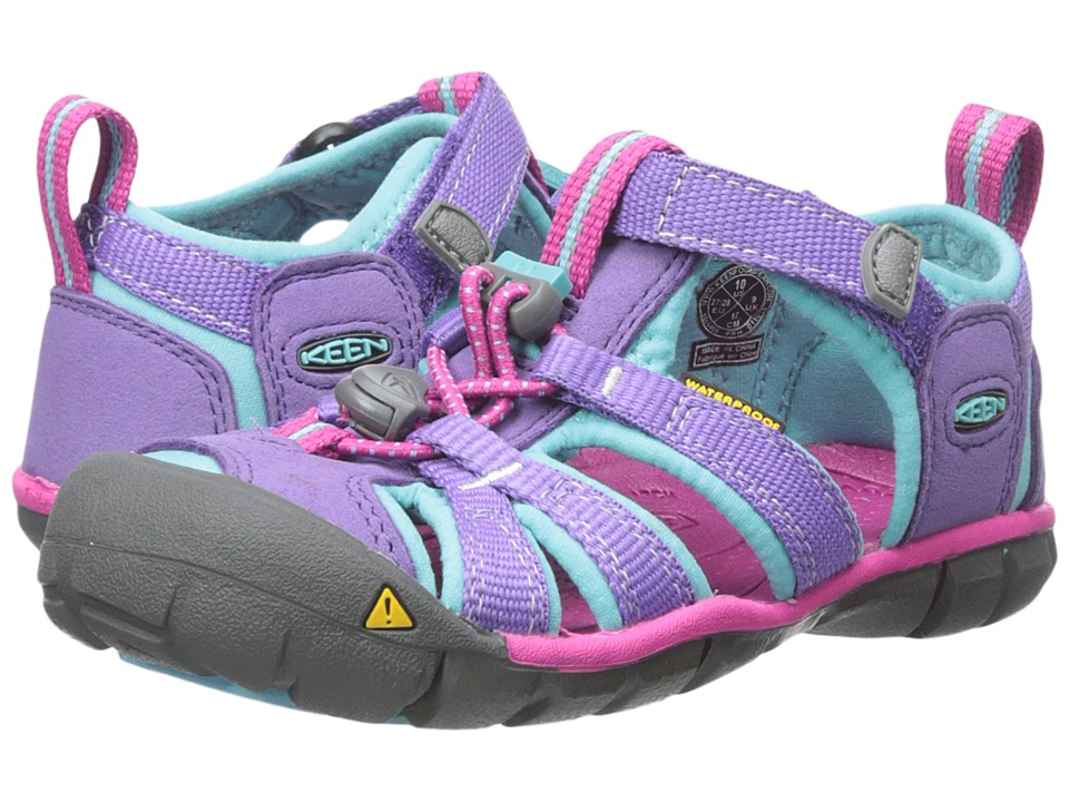 Keen Kids - Seacamp II CNX (Toddler/Little Kid) (Purple Heart/Very Berry) Girls Shoes