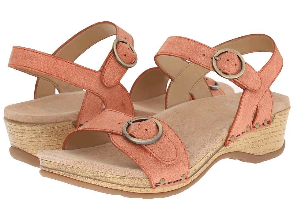Dansko - Mabel (Orange Washed Leather) Women's Sandals