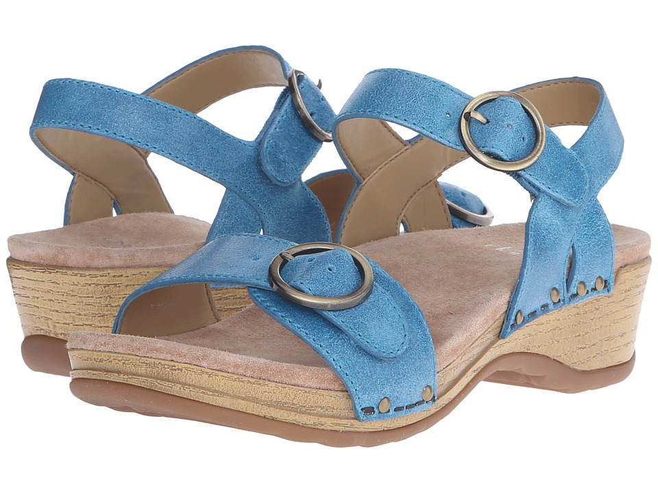 Dansko - Mabel (Blue Washed Leather) Women's Sandals