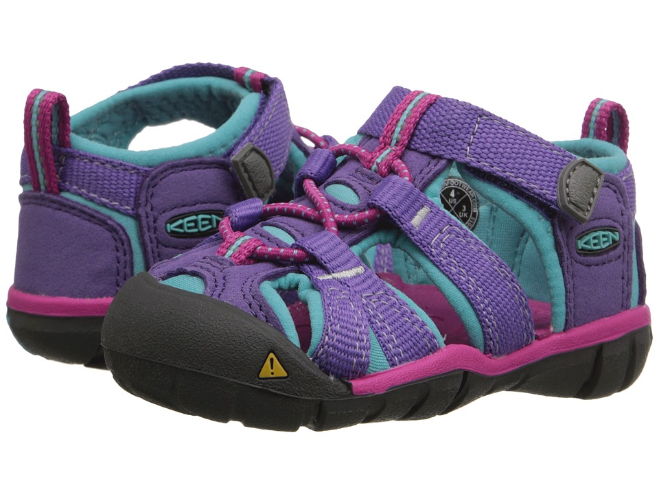 Keen Kids - Seacamp II CNX (Toddler) (Purple Heart/Very Berry) Girls Shoes