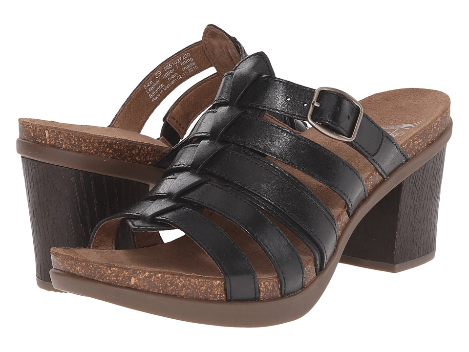 Dansko - Dina (Black Full Grain) Women's Sandals