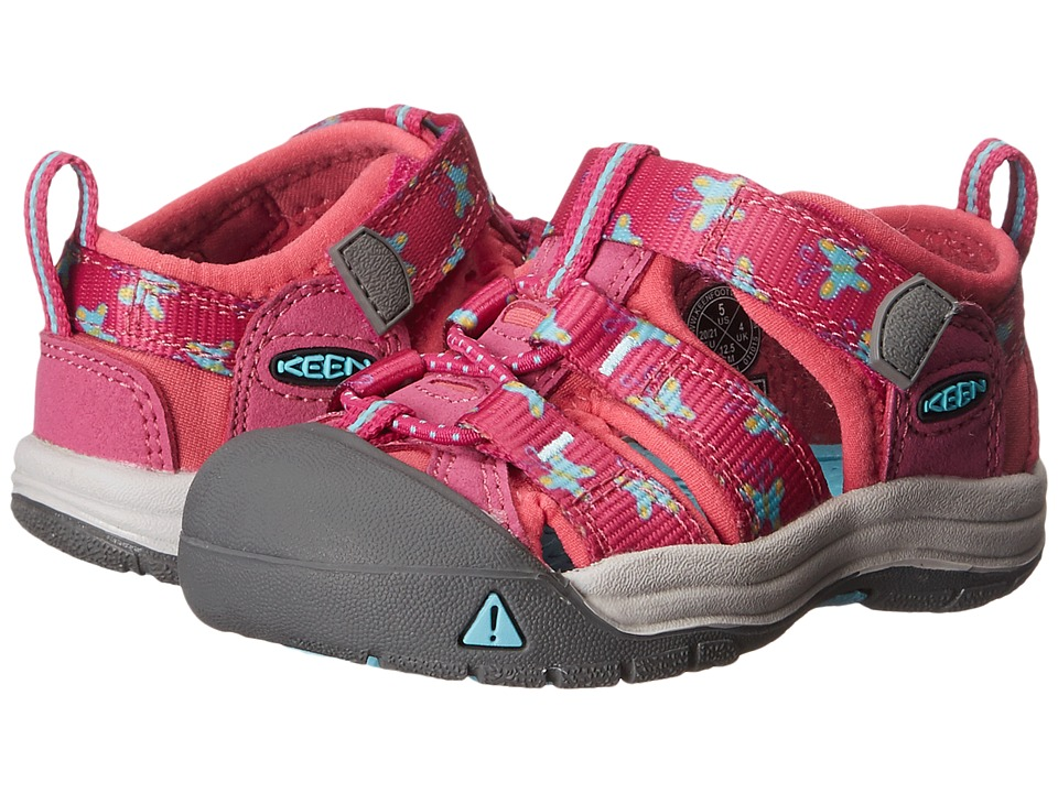 Keen Kids - Newport H2 (Toddler) (Very Berry Butterfly) Girls Shoes
