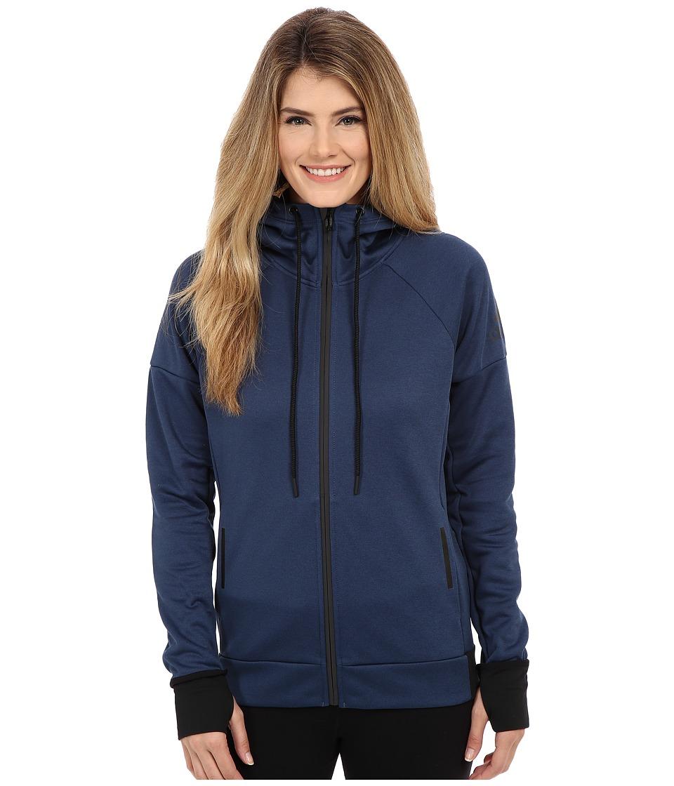adidas - Daybreaker Hoodie (Mineral Blue) Women's Sweatshirt