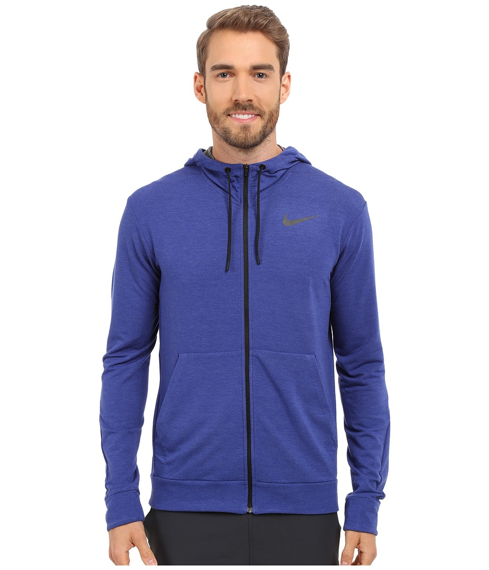 Nike - Dri-FIT Fleece Full-Zip Training Hoodie (Deep Royal Blue/Black) Men's Sweatshirt