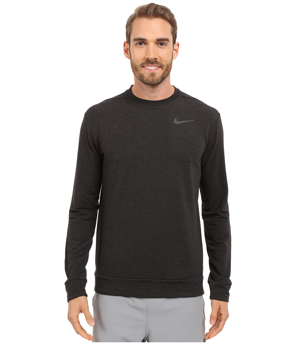 Nike - Dri-FIT Fleece Crew Training Shirt (Black/Black) Men's Sweatshirt