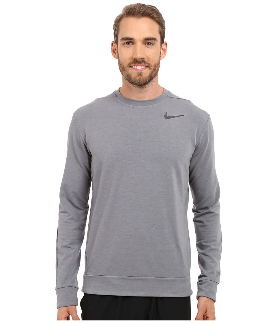 Nike - Dri-FIT Fleece Crew Training Shirt (Cool Grey/Black) Men's Sweatshirt