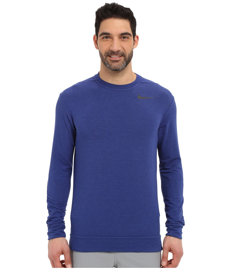 Nike - Dri-FIT Fleece Crew Training Shirt (Deep Royal Blue/Black) Men's Sweatshirt