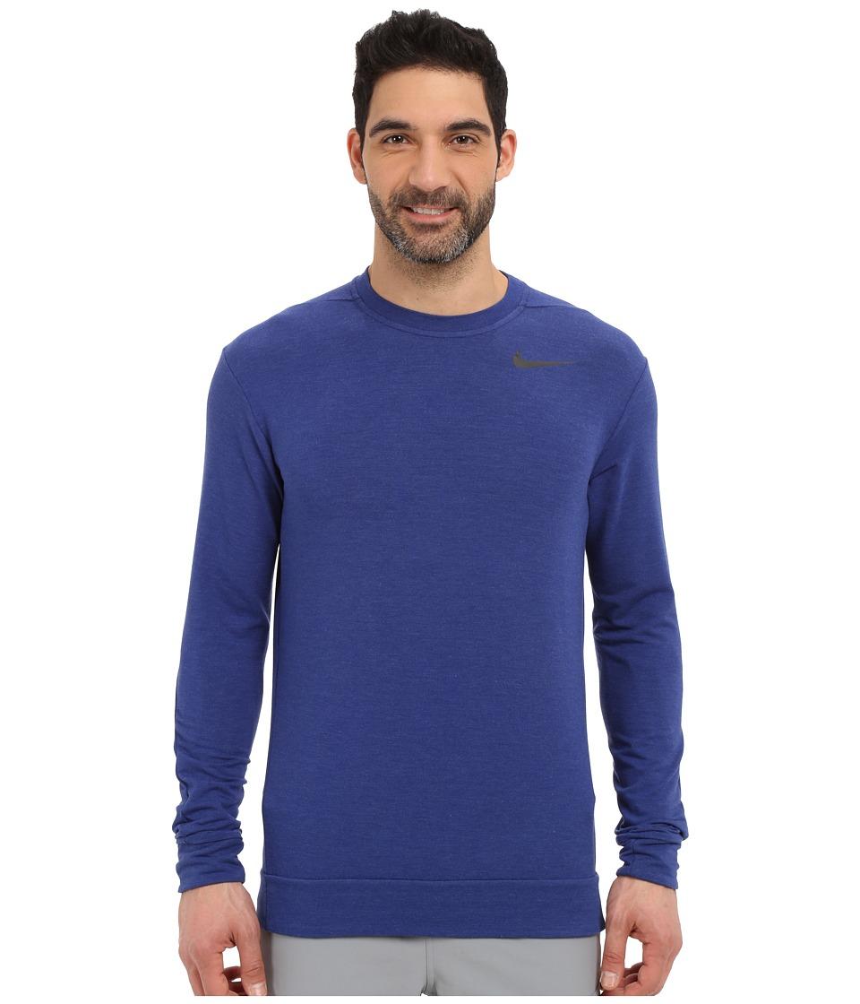 Nike - Dri-FIT Fleece Crew Training Shirt (Deep Royal Blue/Black) Men's Sweatshirt