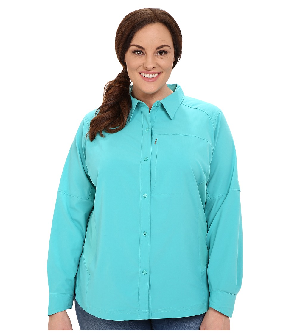 Columbia - Plus Size Silver Ridge L/S Shirt (Miami) Women's Long Sleeve Button Up