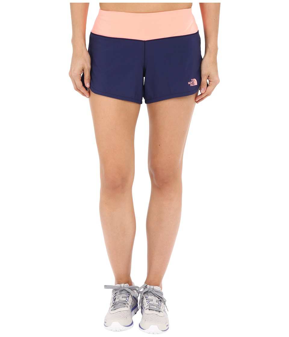The North Face - Ma-X Shorts (Patriot Blue/Neon Peach) Women's Shorts
