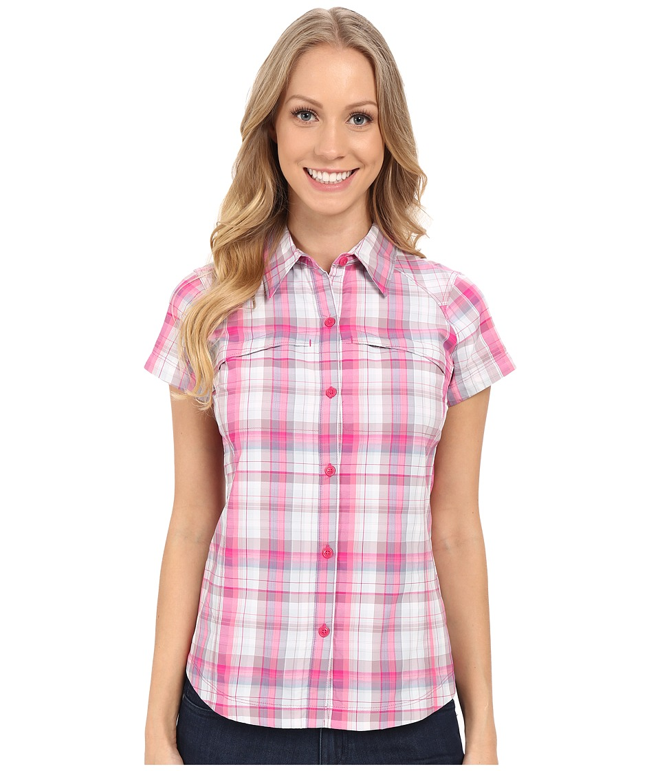 Columbia - Silver Ridge Multiplaid S/S Shirt (Haute Pink Dobby Plaid) Women's Short Sleeve Button Up