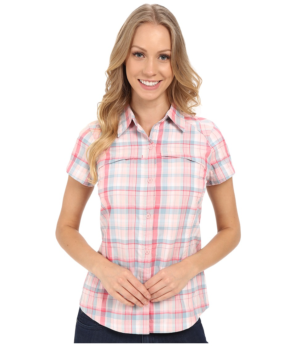 Columbia - Silver Ridge Multiplaid S/S Shirt (Rosewater Dobby Plaid) Women's Short Sleeve Button Up