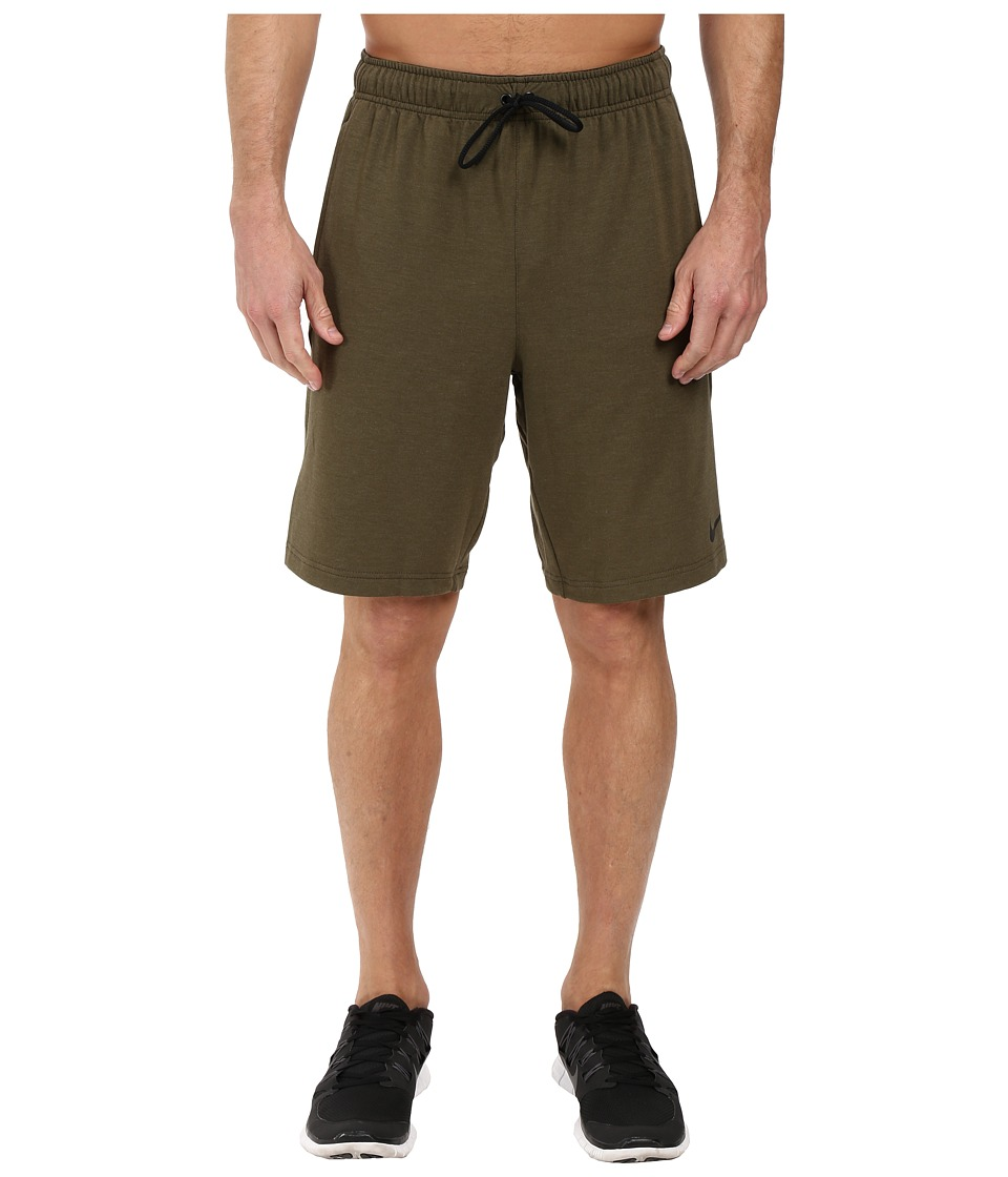 Nike - Dri-FIT Fleece Training 8 Short (Cargo Khaki/Black) Men's Shorts
