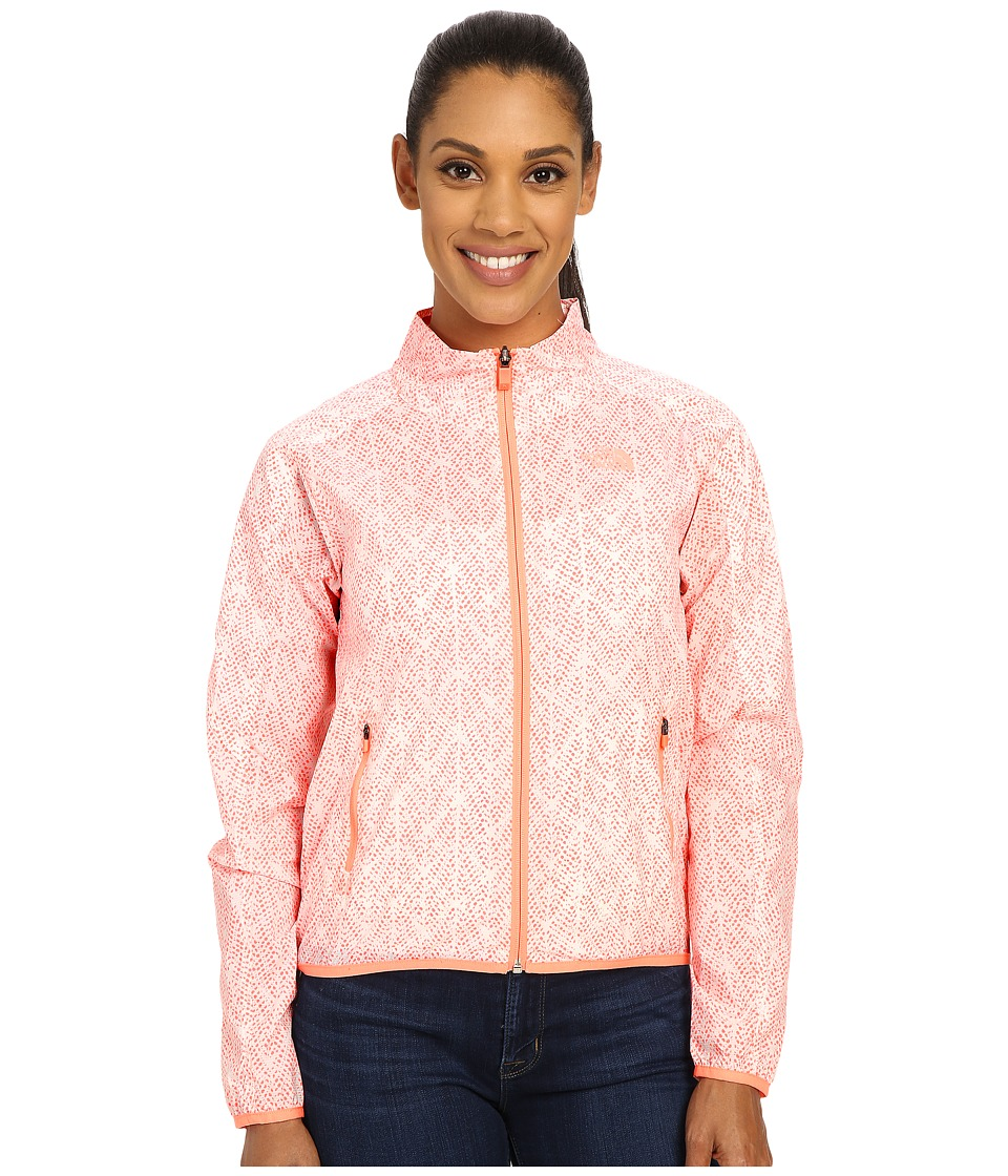 The North Face Nueva Printed Bomber Jacket (Neon Peach) Women