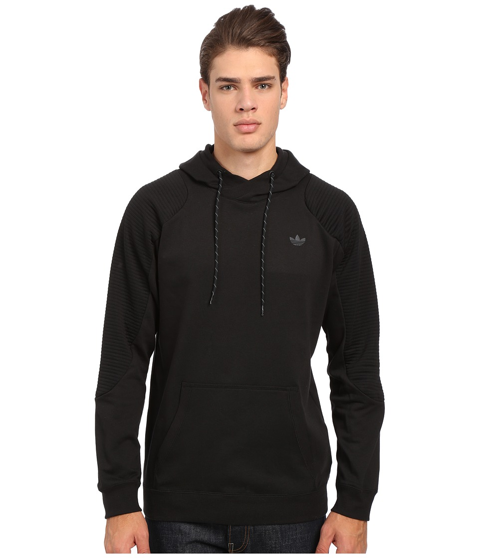 adidas Originals - Sport Luxe Moto Hoodie (Black) Men's Sweatshirt