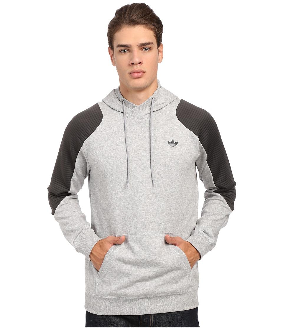 adidas Originals - Sport Luxe Moto Hoodie (Medium Grey Heather/Dark Grey Heather) Men's Sweatshirt