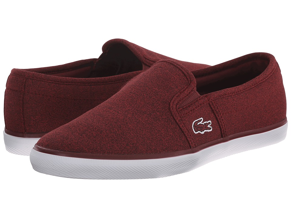Lacoste - Gazon Sport JRS (Dark Red/Dark Red) Women's Slip on Shoes