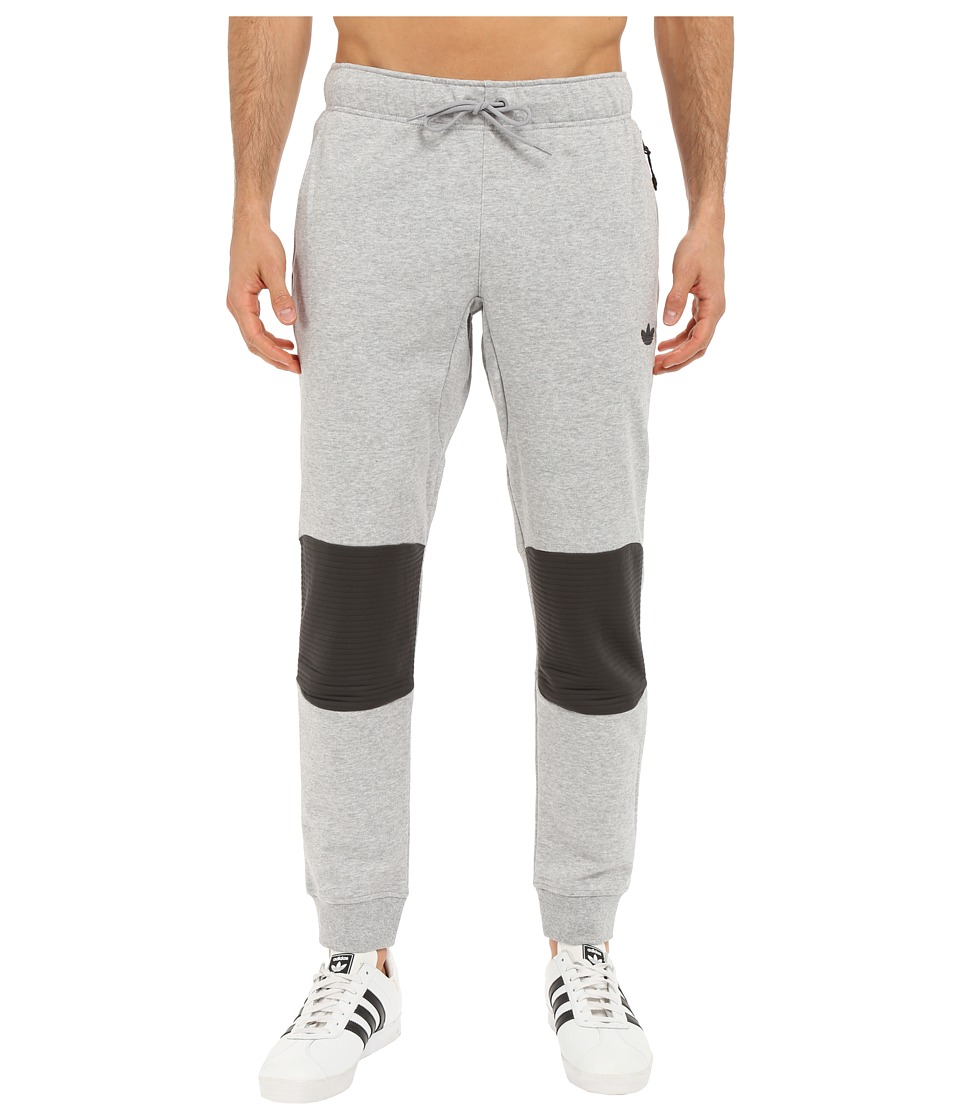 adidas Originals - Sport Luxe Moto Jogger Pants (Medium Grey Heather/Dark Grey Heather) Men's Casual Pants