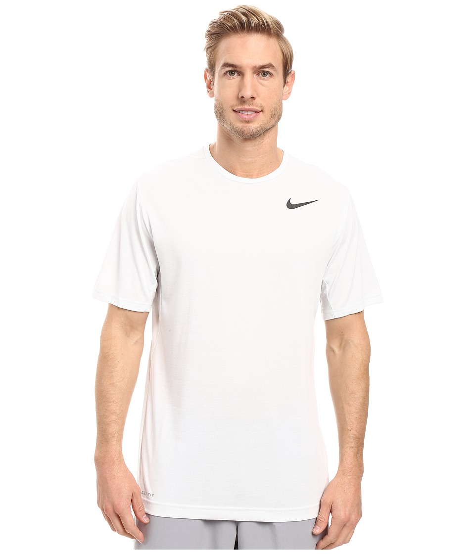 Nike - Dri-FIT Training Shirt (White/Black) Men's Clothing
