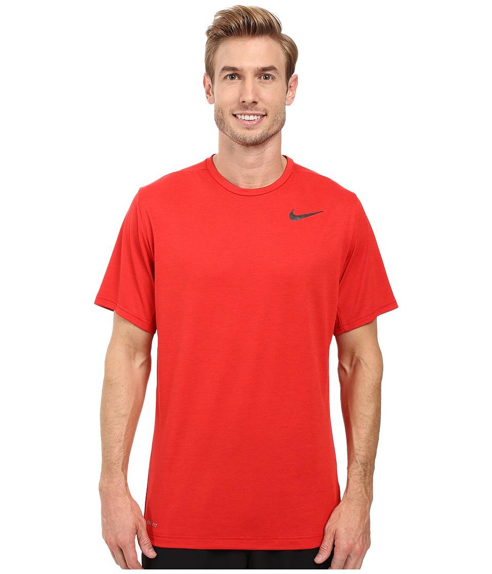 Nike - Dri-FIT Training Shirt (University Red/Black) Men's Clothing