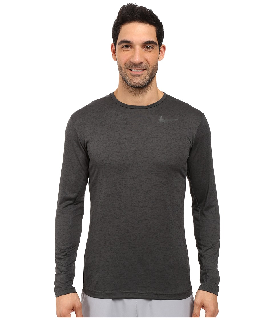 Nike Dri-FITtm Training Long Sleeve Shirt (Black/Black) Men