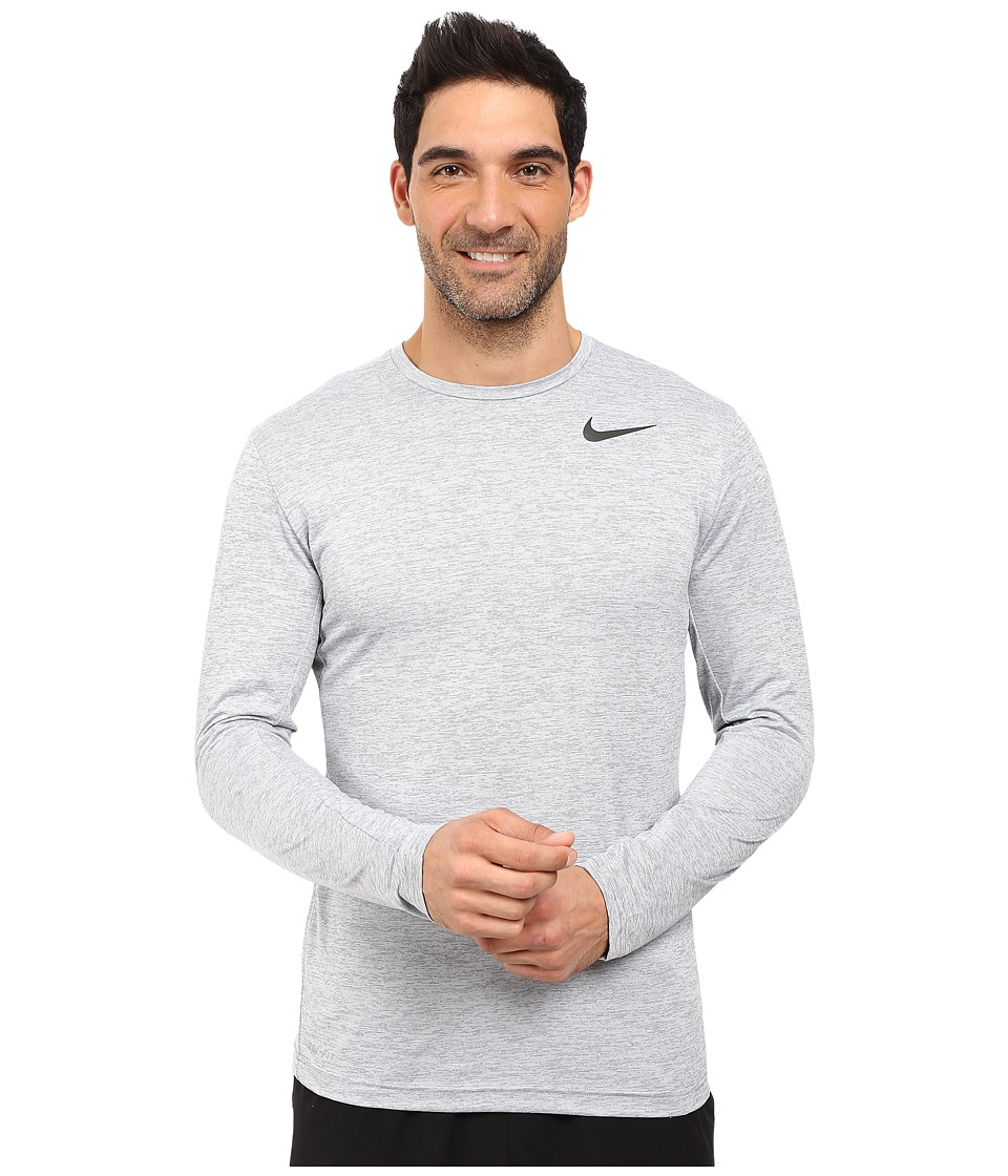 Nike Dri-FITtm Training Long Sleeve Shirt (Cool Grey/Black) Men