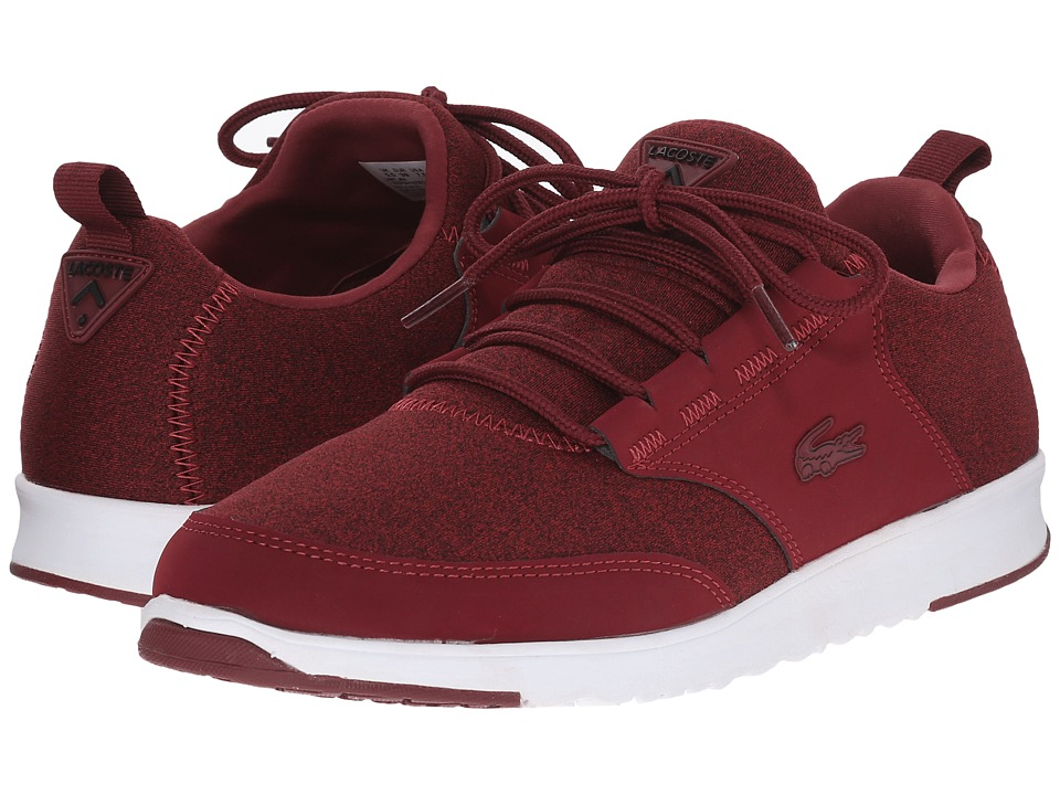 Lacoste - L.ight JRS (Dark Red/Dark Red) Women's Lace up casual Shoes
