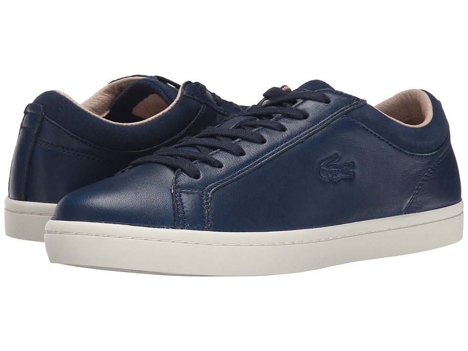 Lacoste - Straightset W1 (Navy) Women's Lace up casual Shoes