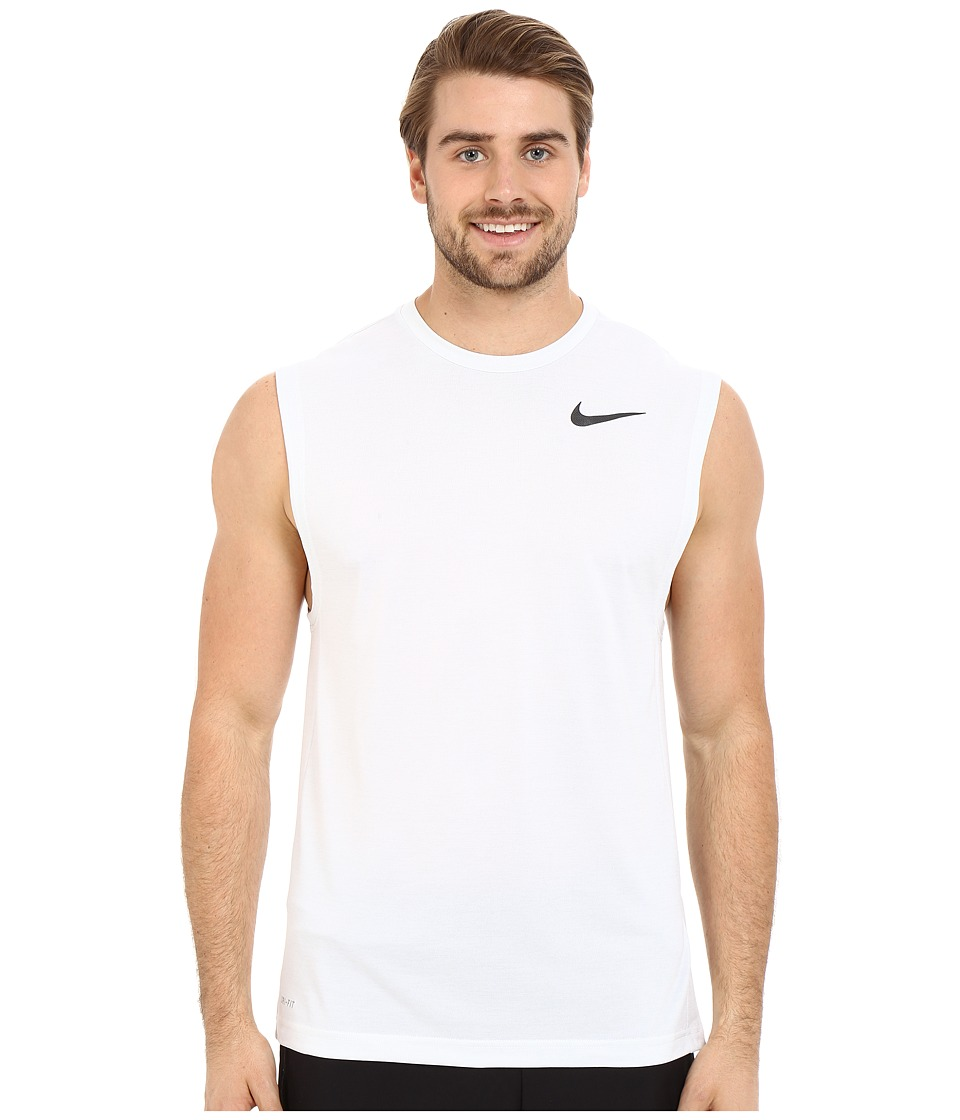 Nike - Dri-FITtm Training Muscle Tank Top (White/Black) Men's Sleeveless