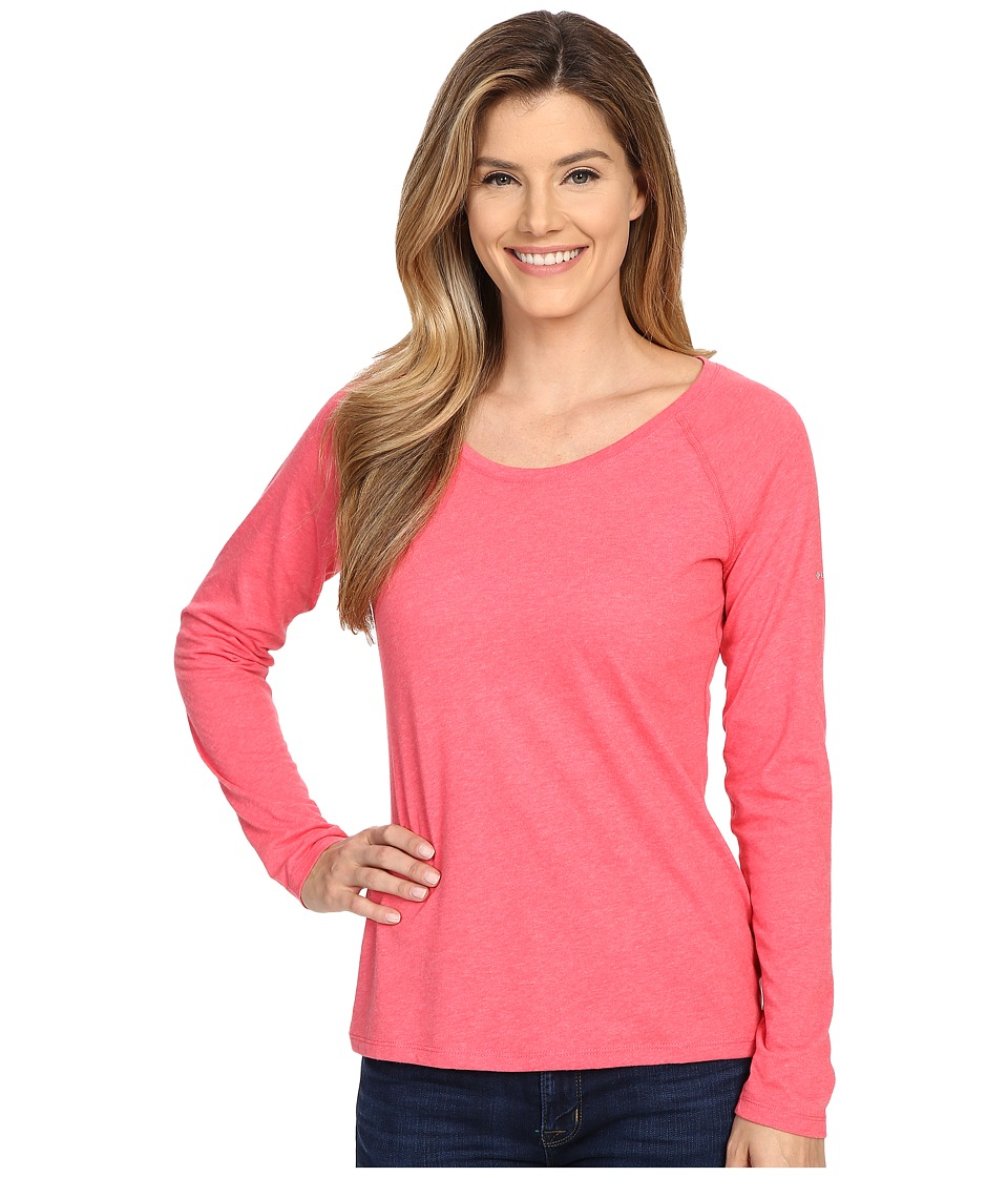 Columbia - Silver Ridge Zero Long Sleeve Shirt (Bright Geranium Heather) Women's Long Sleeve Pullover
