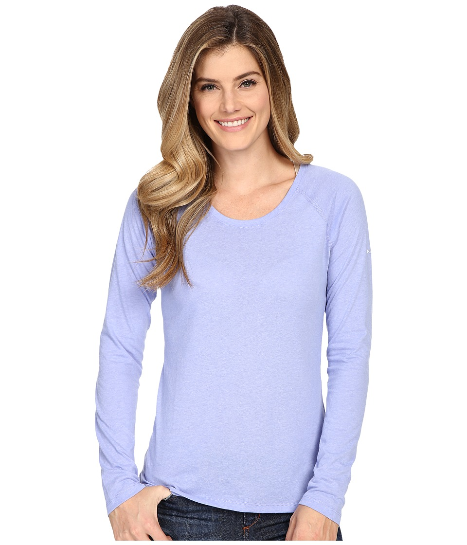 Columbia - Silver Ridge Zero Long Sleeve Shirt (Pale Purple Heather) Women's Long Sleeve Pullover