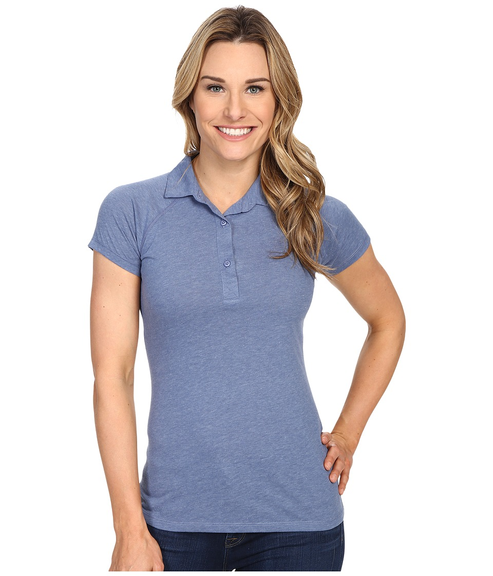 Columbia - Silver Ridge Zero Polo (Bluebell Heather) Women's Short Sleeve Pullover